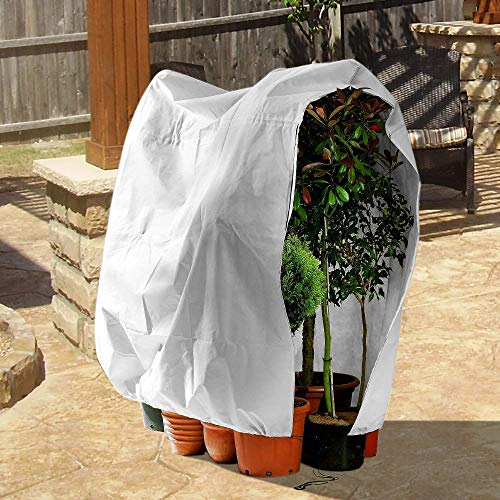 OriginA Warm Plant Cover Winter Protection Bag Shade Cloth and Insect Barrier Bag Shrub Jacket for Season Extension&Frost Protection, 0.95oz/sq.yd, Width 32