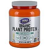 Cheap Now Sports Organic Plant Protein Powder, Vanilla, 2-Pound