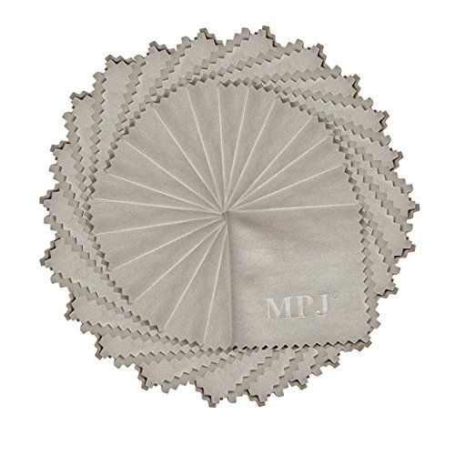 MPJ 24pcs Microfibre Cleaning Cloths for Cleaning Cell Phones, Tablets, Camera Lenses, Spectacles, LCD Screens and Other Delicate Surface ( 5.5 x 5.5 inches / 14cm x 14cm )