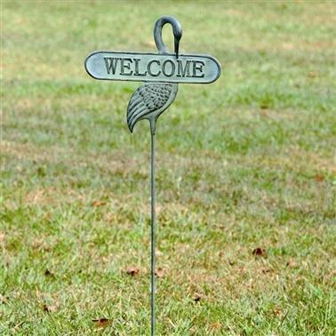 Spi Home Crane - SPI Home 33290 Welcoming Crane Garden Stake