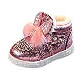 Kobay Baby Girl Shoes,Children Toddler Baby Bunny Ears Sneaker Girls Warm Soft Anti-Slip Single Shoes Great Gift to Baby