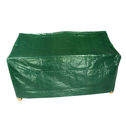 3 seater bench green garden protection waterproof cover