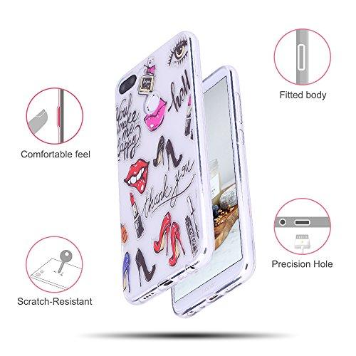 Funda Huawei Honor 9 Lite, CaseLover Suave Transparente TPU Silicona Carcasa para Honor 9 Lite Ultra Delgado Flexible Goma Gel Protectiva Caso Anti Rasguños Cubierta Anti Choque Caja Case Cover - Unic Tacones altos