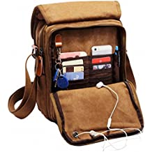 Kenox Vintage Multifunction Canvas Shoulder Bag Messenger Bag Ipad Bag Work Field Bag
