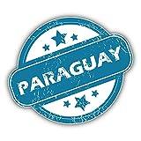 Paraguay Grunge Stamp Art Decor Bumper Sticker 5'' x 4''