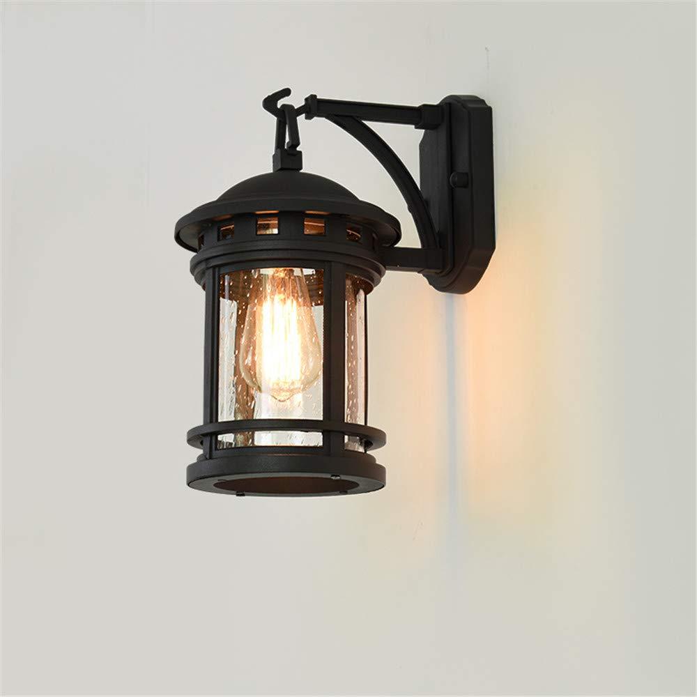 Ehime Außenwandleuchten Anti-Rost- und Antikorrosions-im Freien wasserdichte Wandlampe der Hauswand-Korridorgang-Tür-Wandlampe Retro- industrielle im Freienwandlampe, schwarz