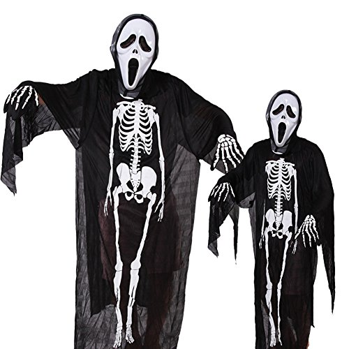 Dead Space Cosplay Costume - Skeleton Clothes Halloween Costume Skull Walking Dead Dress Up & Role Play Makeup party Costumes