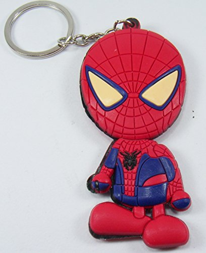 [Cute Cartoon Spider-man Toy Rubber Keychain Figure] (Amazing Spider Man Costumes 360)