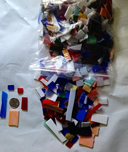 Stained Glass Mosaic Pieces 1.5 Lbs Mix Hand Cut in the USA