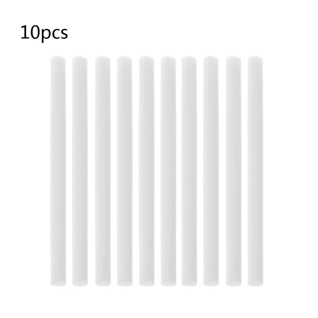 8 x 130 mm Lote de 10 Varillas para el humidificador de filtros de algod/ón para humidificadores Angelliu