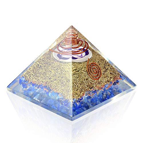 Orgone Pyramid Energy Generator Third Eye Chakra Symbol Orgonite Lapis Lazuli Crystal Pyramid