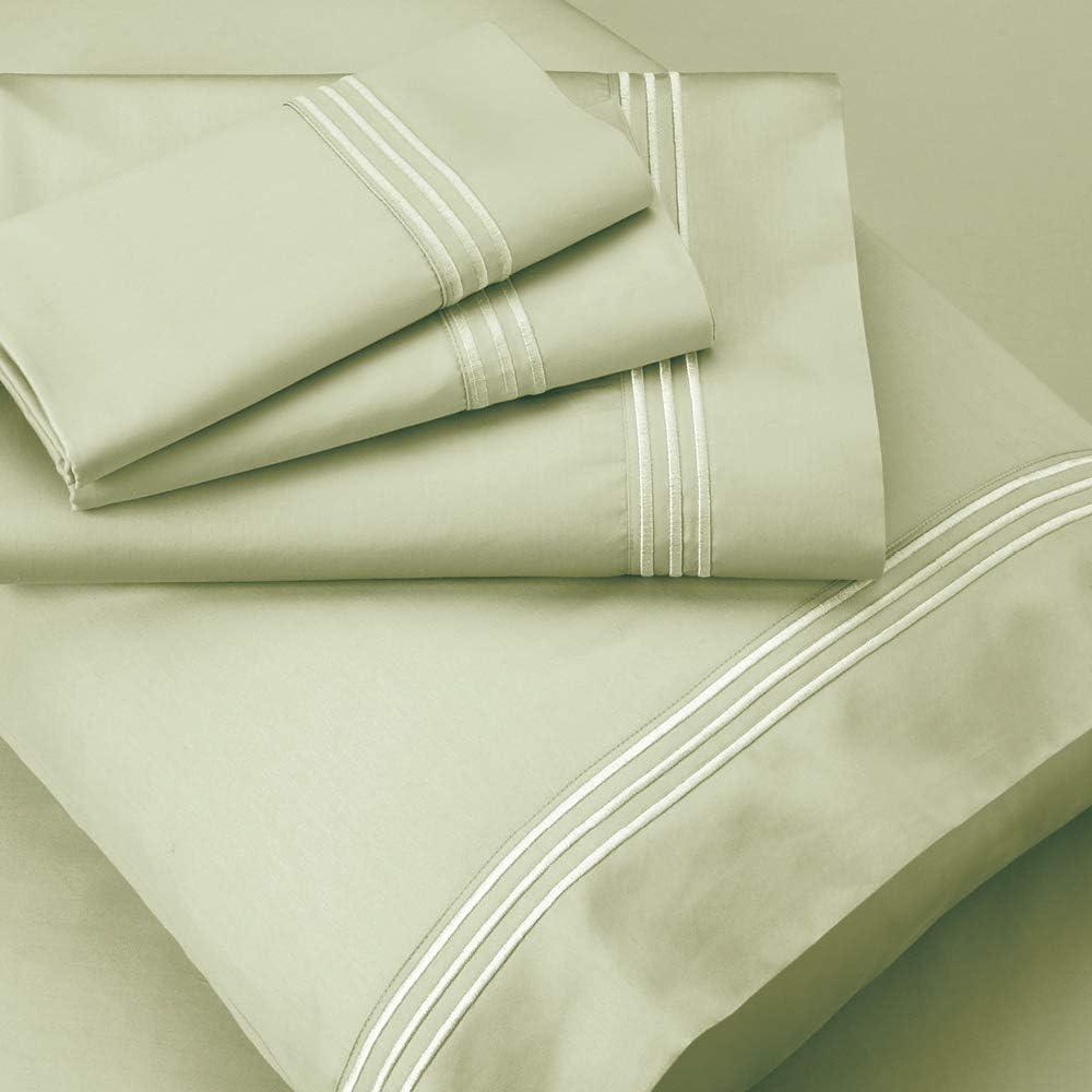 PureCare curación energética Celliant & algodón 400T satén Hoja Set Sage