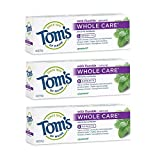 Beauty : Tom's of Maine Whole Care Toothpaste, Toothpaste, Natuaral Toothpaste, Spearmint, 4.0 Ounce, 3-Pack