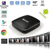 QINTAIX Q39 Android TV BOX RK3399 4GB RAM 32GB ROM , 6 Cores CPU ,Mini Android 6.0 set top box ,Dual Wifi ,VP9,4K FHD UHD
