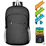 20L Foldable Small Backpack with Nonstripping Waterproof liner, Super Durable Packable lightweight Hiking Daypack for Travel, Outdoor, Sports, Shopping