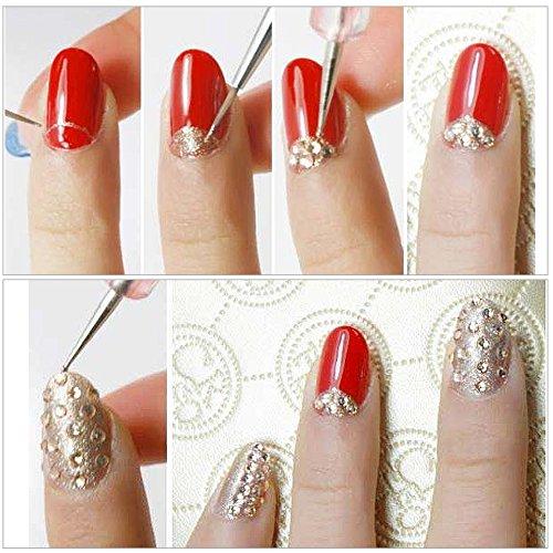 5Pcs 1 Set 2 Way Dotting Pen Marbleizing Tool Nail Art Design Dot Paint Tools