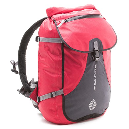 Aqua Quest Stylin 30L Waterproof Dry Bag Backapck - Protects your Laptop, iPad & Tablet, Designed for School, College & Outdoors (Red Pro)