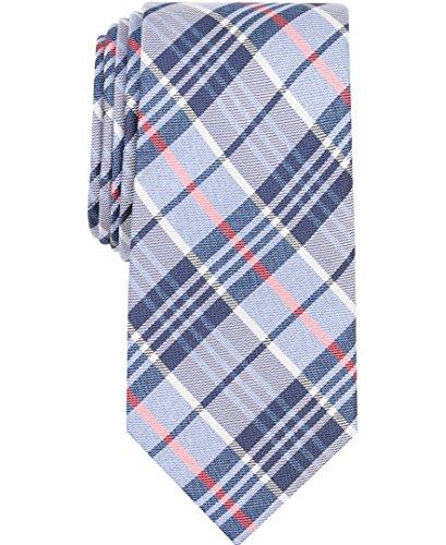 Nautica (NAV5C) Men's Waves Plaid Tie, navy/white, One - Tie Nautica Mens