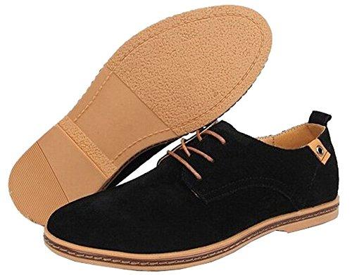 Herren Wildleder Schuhe Casual Schuhe Shop LILI Schwarz Business qTwUA5z