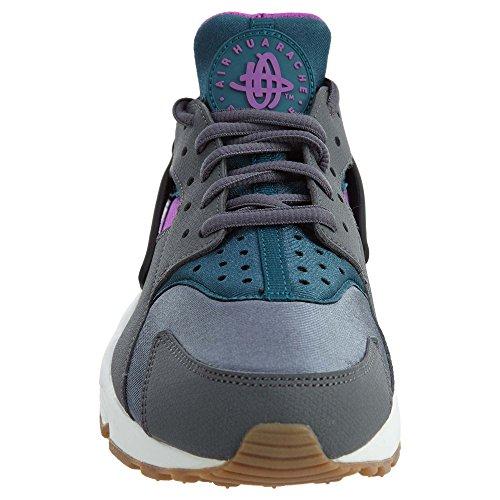 Nike Kvinner Wmns Luft Huarache Løp, Mørk Grå / Blågrønn, 7 Oss