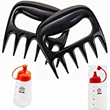 FLOLATIDIA Meat Claws-Bear Claws for Pulled Pork BBQ Shredder Meat Handler Grill - Shred Your Meat Chicken Beef Barbecue Kit Band Sauce Bottle With Christmas Supplies Gifts