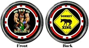 Card Guard - One Bad Ass Donkey Protector Holdem Poker Chip/Card Cover