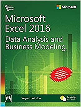 buy microsoft excel 2016 data analysis and business modeling book