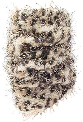 J.ann Women's Animal Printed Fuzzy Light-weigt Leg Warmer, Beige Ann Wide Leg