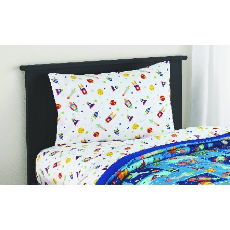 MS Twin/Full Comforter Set, (Space Bed in a Bag + Handi Wipes, Full) by Mainstay (Image #4)