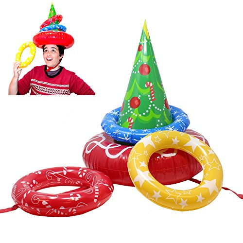(JOYIN Inflatable Christmas Tree Toss Game for Christmas Parties)
