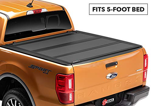 BAKFlip MX4 Hard Folding Truck Bed Tonneau Cover | 448332 | fits 2019 Ford Ranger, 5' Bed