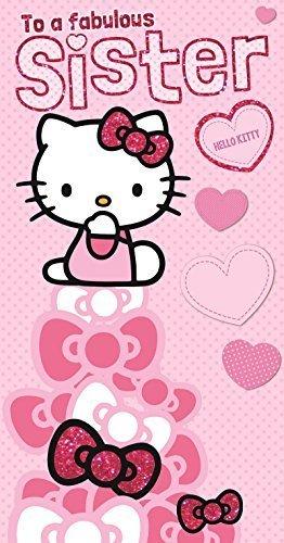 Hello Kitty Hermana Cumpleaños Tarjeta: Amazon.es: Electrónica