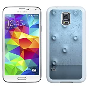 Unique Phone Case Wall Bulge Flooring Texture Galaxy S5 Wallpaper in White