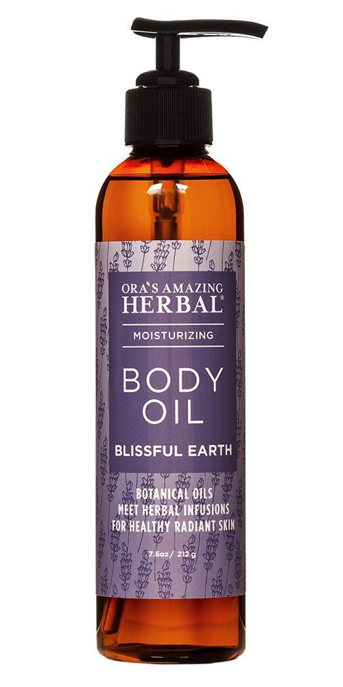 Body Oil for Women, After Shower Body Oil, and Bath Oil For Relaxation, Grapeseed Oil For Skin, Blissful Earth Essential Oil Scent with Lavender Vetiver and Clary Sage, Skin Care Oil, Ora's Amazing Herbal : Beauty