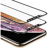 Xcentz 2 Pack Screen Protector Matte for iPhone X/iPhone Xs, Tempered Glass Screen Protector Full Coverage, 2.5D Curved, Anti Fingerprint, 9H Screen Protector for iPhone X/iPhone 10