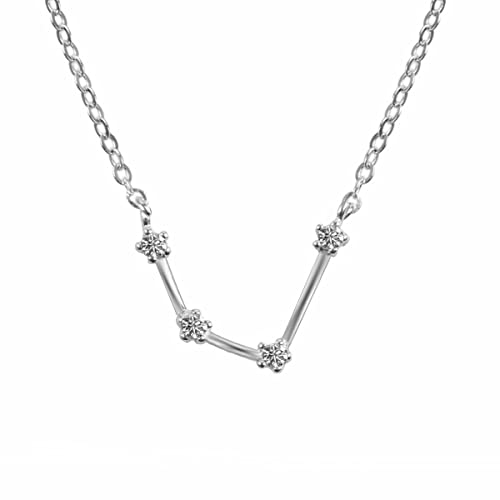 Amazoncom Tqs Womens Day Gift Horoscope Plated Silver Necklace
