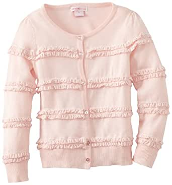 Design History Little Girls' Long Sleeve Cardigan, Chiffon, 4