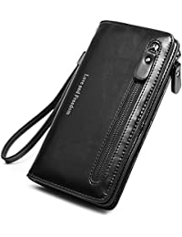 Women Wallet Leather Long Lady Wristlet Clutch Purse Compact Bifold Pocket For Girls