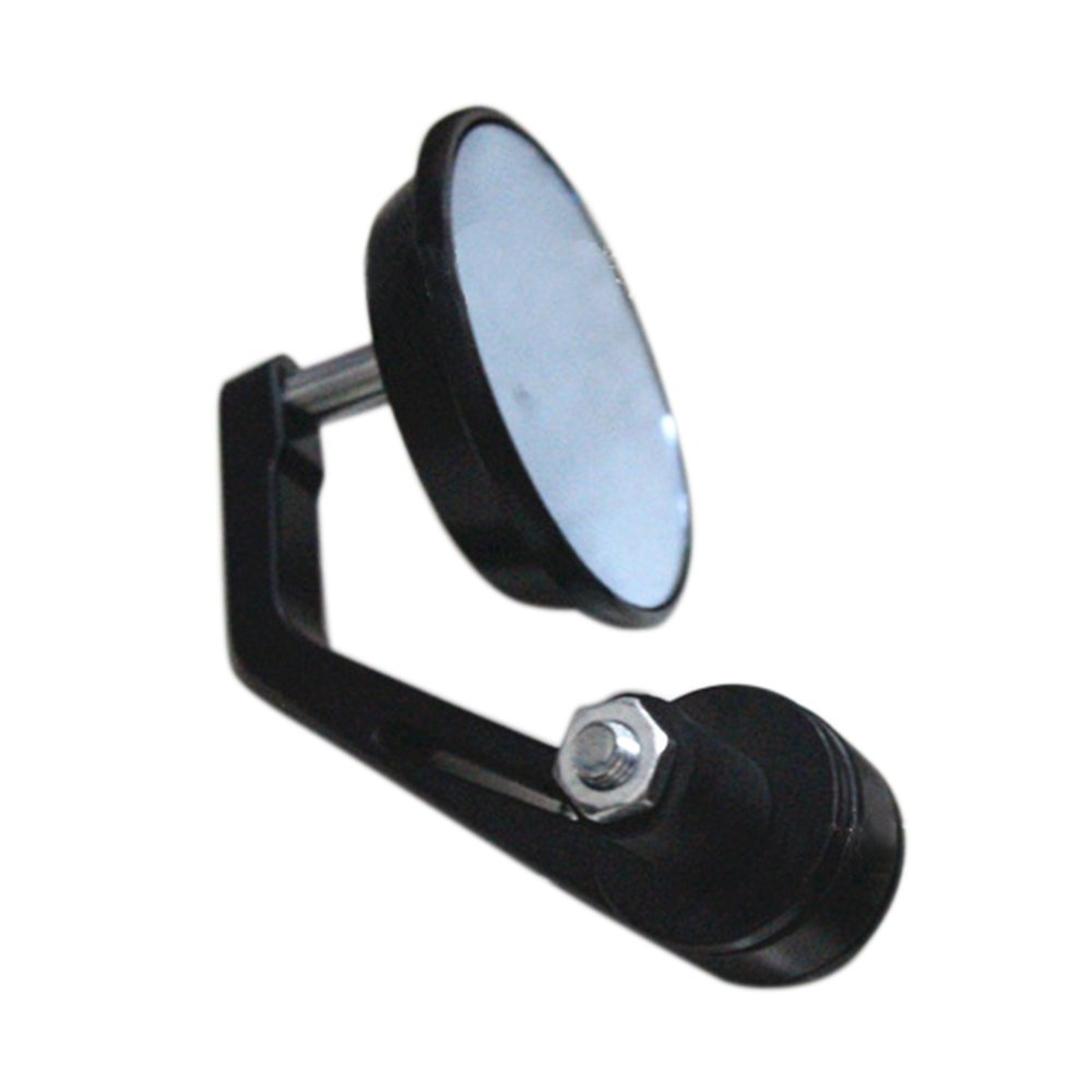 KKmoon Rearview Side Mirror 1 Pair Universal Motorcycle Aluminum Alloy Black Round Shape Modified Accessories for 22mm Exterior Diameter Handlebar Bar End Street Cars Scooters