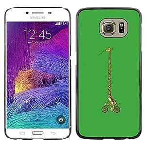 All Phone Most Case / Oferta Especial Duro Teléfono Inteligente PC Cáscara Funda Cubierta de proteccion Caso / Hard Case Samsung Galaxy S6 // Girrafe Bicycle