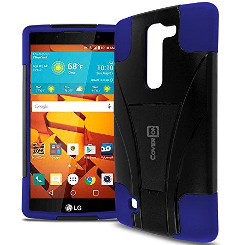 LG Volt 2 Phone Case, CoverON [Dual Defense] Hard Protective Hybrid Armor Kickstand Slim Cover Case for LG Volt 2 - Blue & Black (Virgin Mobile Phone Case Lg Volt)