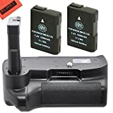 Battery Grip Kit for Nikon D5100 D5200 D5300 Digital SLR Camera Includes Qty 2 Replacement EN-EL14 Batteries + Vertical Battery Grip + More!!