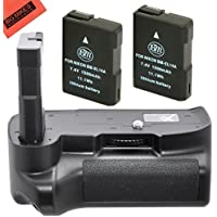 Battery Grip Kit for Nikon D5100, D5200, D5300 Digital SLR Camera Includes Qty 2 Replacement EN-EL14 EN-EL14a Batteries + Vertical Battery Grip + More!!