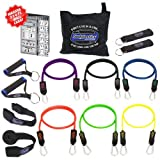 Pilates Accessories NEW Bodylastics Heavy Duty Resistance Bands 14 Pcs Fitness Exercise Tubes Set