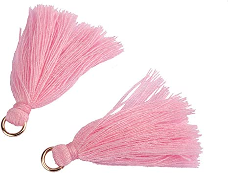 1.5Inch 102Pcs Sewing Tassels Handmade DIY Tassels 51 Colors Mini Tassels Earring Pendants for Crafts Jewelry Making Bookmarks Keychain DIY Projects