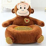 Kids Mini Lounger Sofa,Bean Bag Chair,Novelty Gift Monkey PP Cotton Cute Cartoon Washable 21 x17