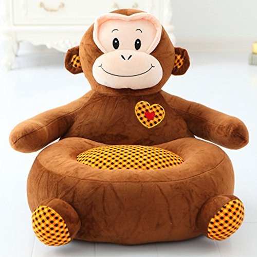 Kids Mini Lounger Sofa,Bean Bag Chair,Novelty Gift Monkey PP Cotton Cute Cartoon Washable 21
