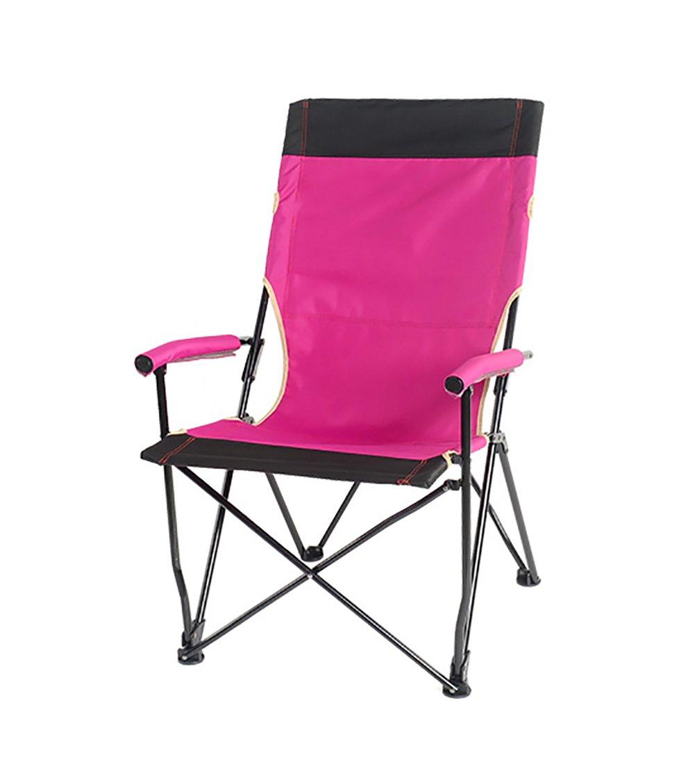 屋外折りたたみチェアハイバックチェアレジャーポータブル釣りチェアフォールディングスツールバーベキューチェアビーチチェア (色 : ピンク ぴんく) B07DNMZNNG ピンク ぴんく ピンク ぴんく