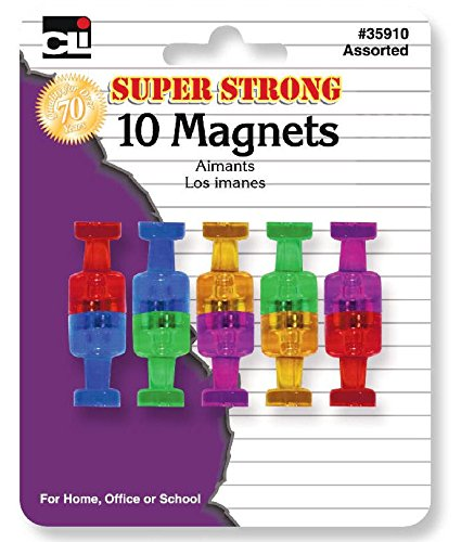 LEONARD Magnets, Push Pin Style with Super Strong Strengt...