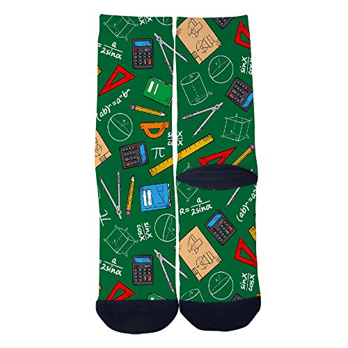 Stationery Custom Socks Creative Socks for Men/Women Casual Cartoon Socks Black - Jane Stationery